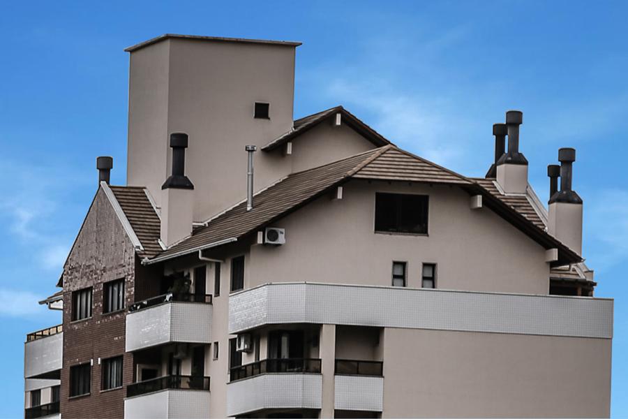 Arquitetura multifamiliar e cobertura